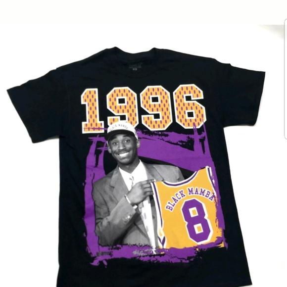 98a79b759af Kobe Bryant Rookie T-Shirt Black Mamba Lakers NBA